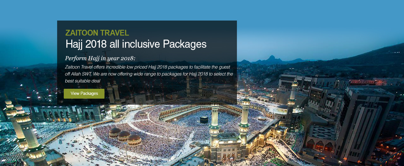 Umrah Banner: Zaitoon Travel Offers The Best Hajj And Umrah Packages In